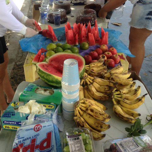 Café da manhã da caminhada ecologica